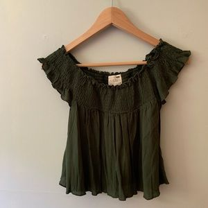 off-the-shoulder top with tags!